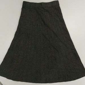 Icone pull on gray ribbed skirt